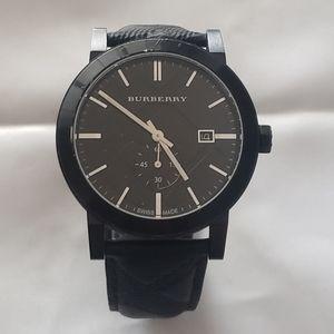 Mens Burberry Black NovaCheck Watch